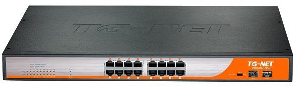 TG-Net FE Managed Switch 16 x 10/100Base T, 2 x 1000BaseT, 2 x SFP (18xPoE)