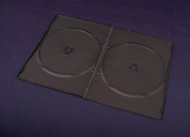 Esperanza Plastové krabičky na 2 DVD 7mm   200ks, černé