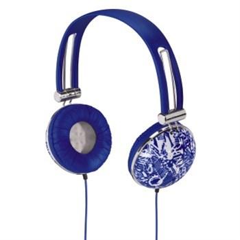 Hama sluchátka HK-656 Trend, uzavřená, modrá/bílá