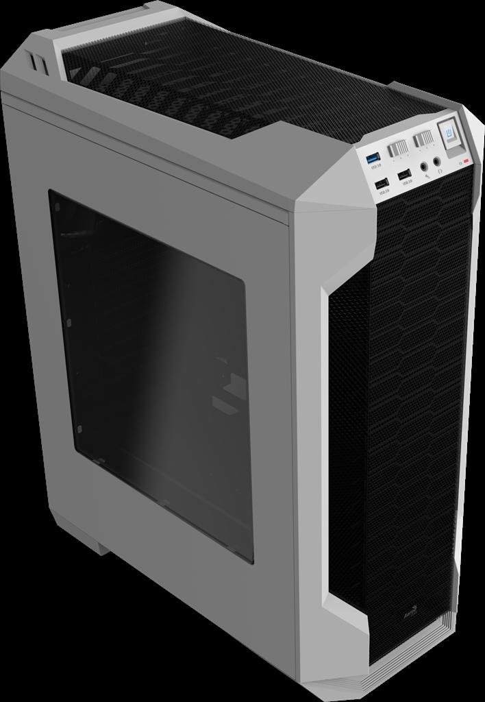 PC skříň Aerocool ATX LS 5200 WHITE, USB 3.0, bez zdroje