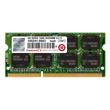 Transcend SODIMM, 4GB, 1600MHz, DDR3L, CL11