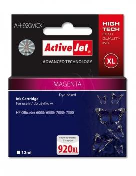 Kazeta ActiveJet AH-920MCX | Magenta | 12 ml | HP HP 920XL CD973AE