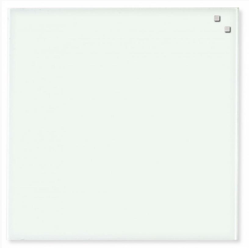 NAGA Magnetic glass board 45x45 cm white