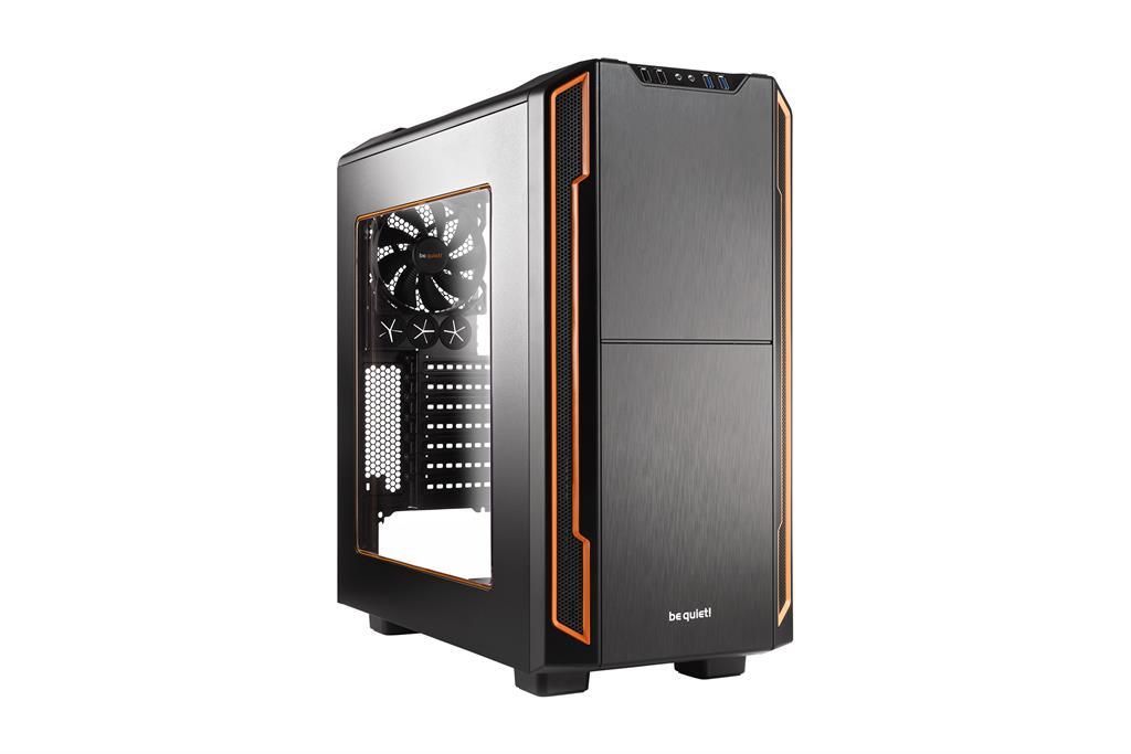 be quiet! Silent Base 600 window, orange, ATX, micro-ATX, mini-ITX case