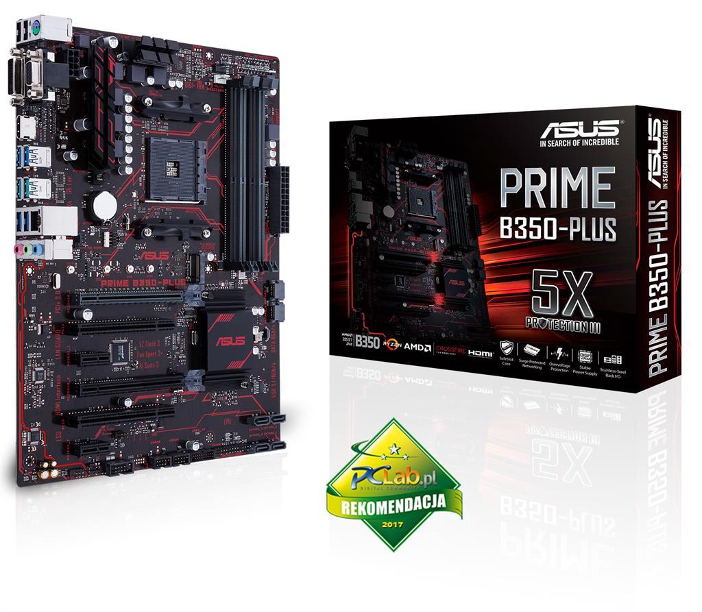 ASUS PRIME B350-PLUS, B350, DDR4 2666/2400/2133 MHz, HDMI, DVI-D, D-Sub ports