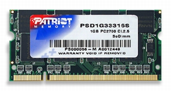 Patriot 1GB 333MHz DDR CL2.5 SODIMM (pro NTB)