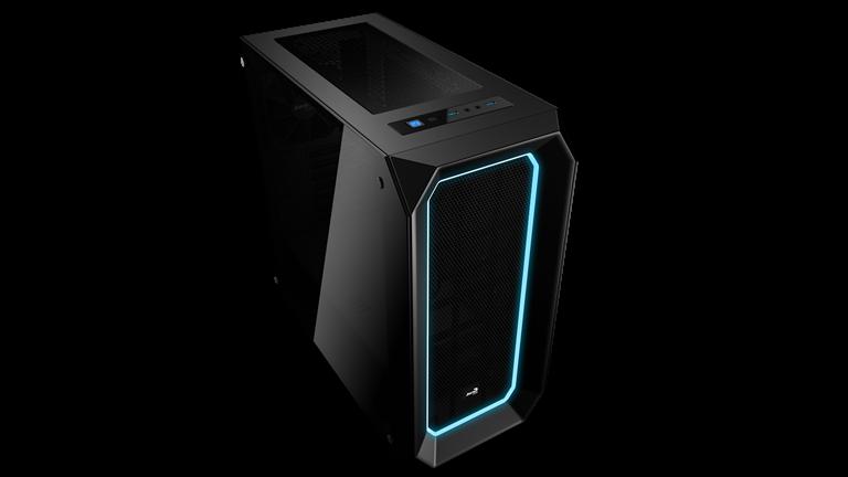 PC skříň Aerocool ATX P7 C0 BLACK Tempered Glass, USB 3.0,bez zdroje