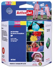 Inkoust ActiveJet AH-361 | Color | 15 ml | Refill | HP C9361EE