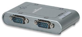 Manhattan konvertor USB/serial RS232 DB9M, 4-portový