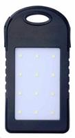 Aligator Power Bank PLUS, 5000mAh, solární, se svítilnou, (N8334), black