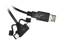 PREMIUMCORD Kabel USB 2.0 A - microUSB/miniUSB 5pin 2m (F/F)