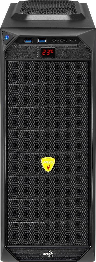 PC skříň Aerocool ATX PGS VS-92 WINDOW Black Edition, USB 3.0 (bez zdroje)