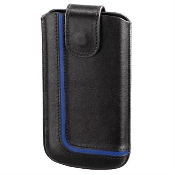 Hama pouzdro na mobilní telefon Neon Black, XL, černé/modré