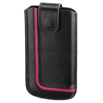Hama pouzdro na mobilní telefon Neon Black, XL, černé/růžové