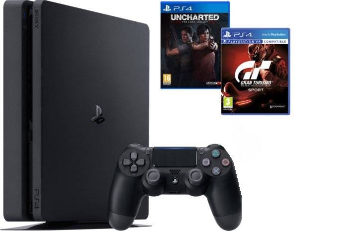 SONY PlayStation 4 Slim - 1TB + GTS + Uncharted: The Lost Legacy + DS4