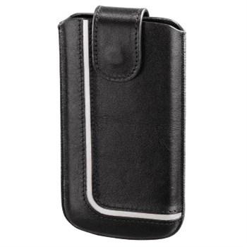 Hama pouzdro na mobilní telefon Neon Black, L, černé/bílé