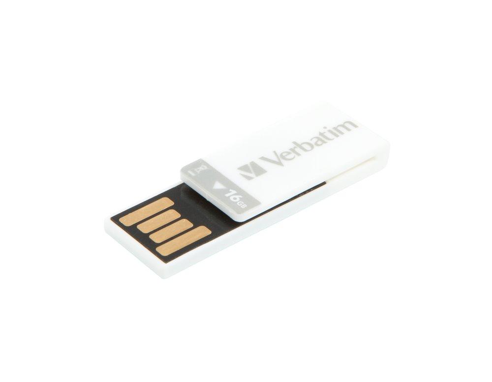 Verbatim Clip-it 16GB USB 2.0 white