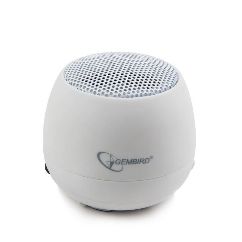 Gembird přenosné reproduktory (iPod, MP3 přehrávač, telefon, laptop), bílé
