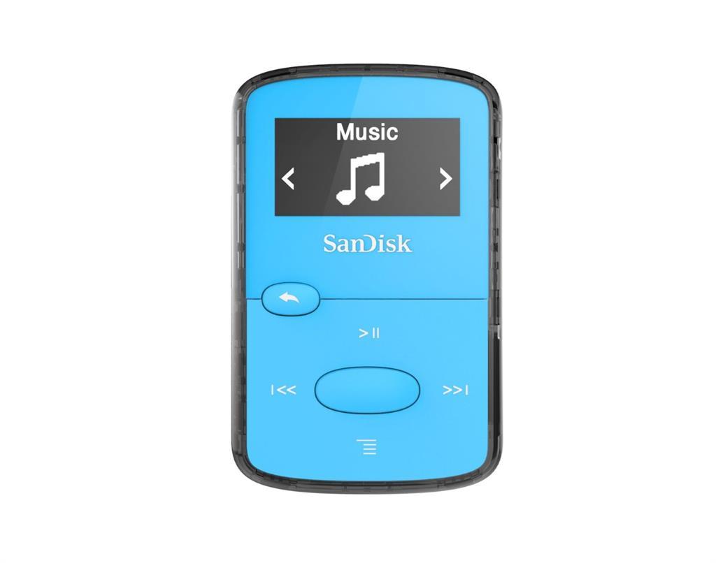 Sandisk CLip Jam MP3 přehrávač 8GB, microSDHC, Radio FM, modrý