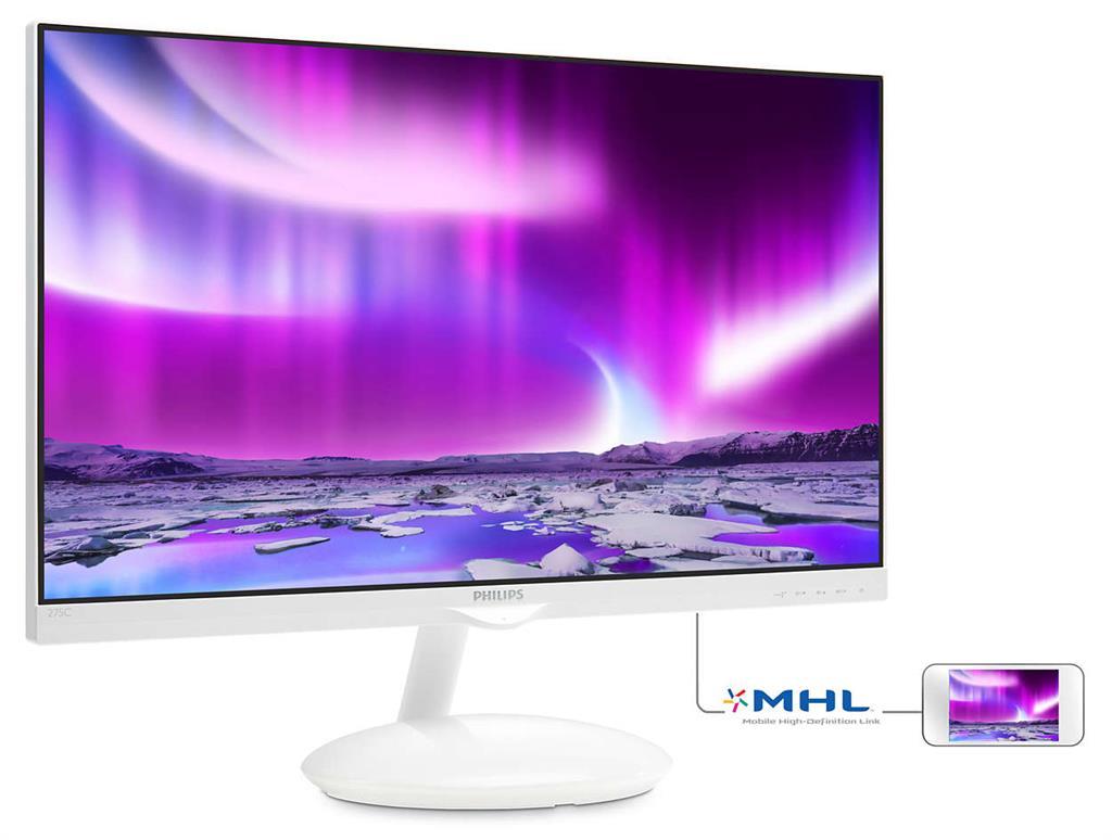 "Philips 275C5QHGSW/00 27"" AH-IPS LED 1920x1080 20 000 000:1 5ms 250cd HDMI"