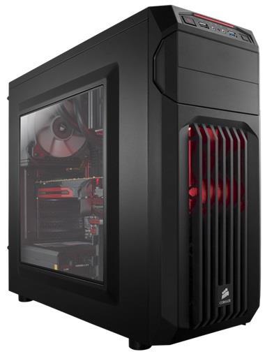 Corsair PC skříň Carbide Series™ SPEC-01 RED LED Mid Tower Gaming, větrák 120mm