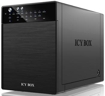 IcyBox externí box pro 4xHDD 3.5'' USB 3.0, eSATA Host, RAID 0/1/3/5/10, černý