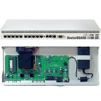 MikroTik RB1100AHx2 L6 DualCore 1GHz 2GB RAM, 13xGig LAN, Rack 19'' microSD