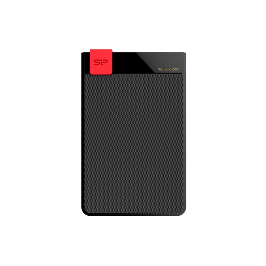 Silicon Power externí HDD Diamond D30 1TB USB 3.0, ultra-slim 7mm, IPX4, černý