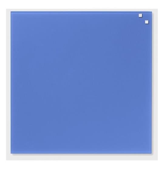 NAGA Magnetic glass board 45x45 cm blue
