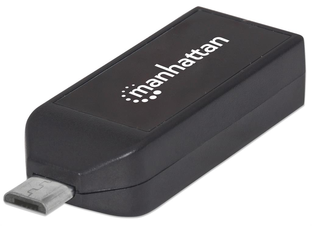 MANHATTAN imPORT Link (OTG Adapter, Micro USB 2.0 to USB 2.0, 24-in-1 Card Reader/Writer)