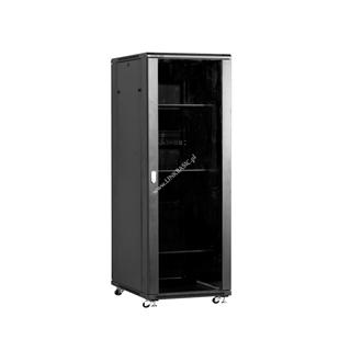 Linkbasic stojící skříně 19'' 42U 800x800mm - černá (prosklené dveře)