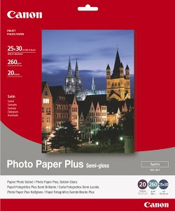 Canon fotopapír SG-201 - 25x30cm (10x12inch) - 260g/m2 - 20listů - pololesklý