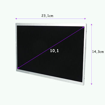 Qoltec LED displej 10.1'' 1024*600 MATTE - 40 Pin, GRADE A+