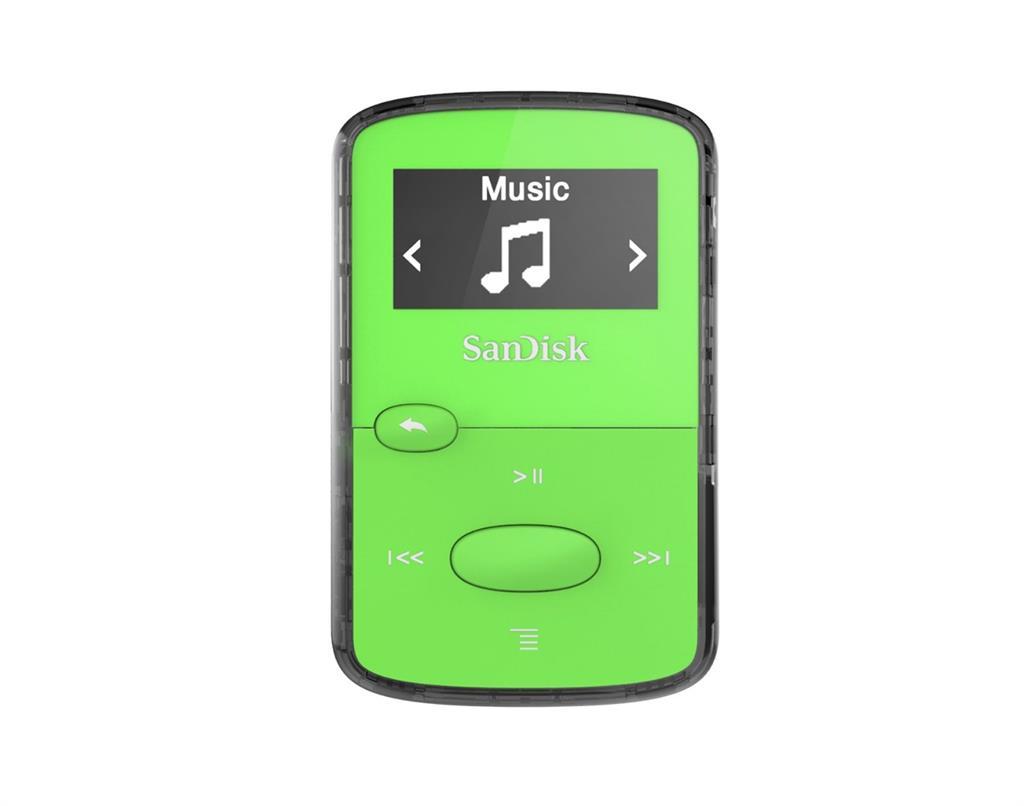 Sandisk CLip Jam MP3 přehrávač 8GB, microSDHC, Radio FM, zelený