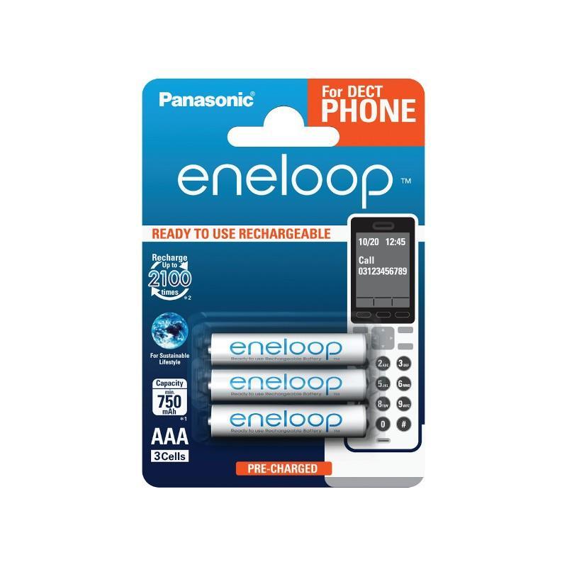 Panasonic Eneloop DECT R03/AAA 750mAh, 3 ks, Blister