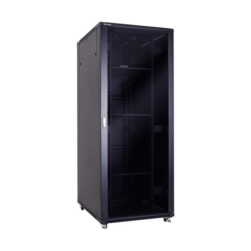 Linkbasic stojící skříně 19'' 42U 800x1000mm - černá (prosklené dveře)