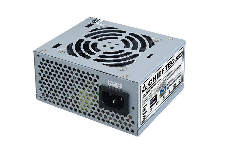 Chieftec SFX zdroj SMART SFX-250VS, 250W bulk, 8cm ventilátor, aktivní PFC