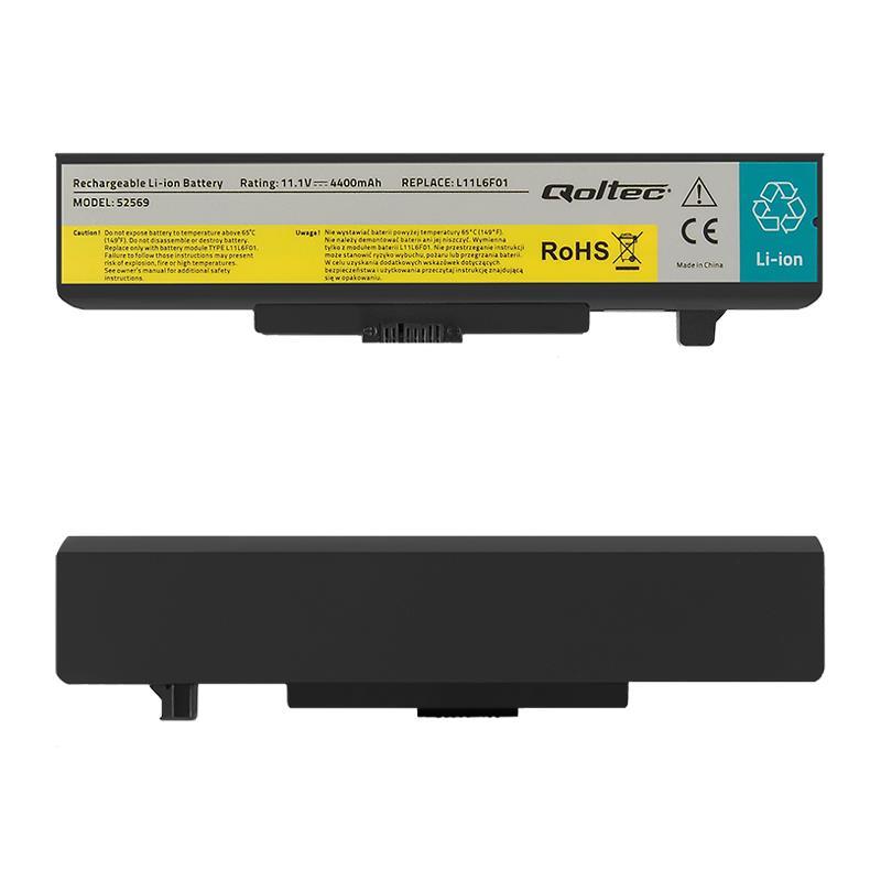 Qoltec Long Life baterie pro notebooky Lenovo Y480 G480   4400mAh   11.1V