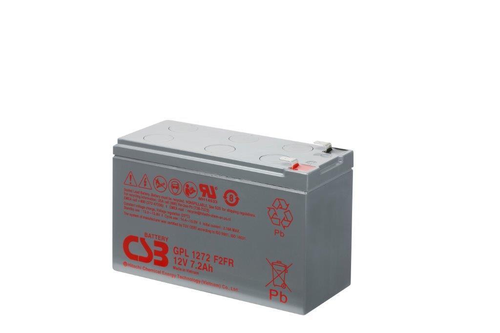 CSB kit 12 baterií GPL1272 F2 12V/7.2Ah, long life