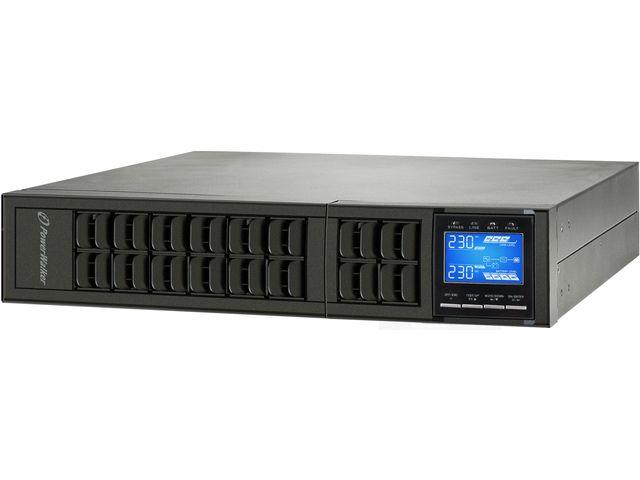 Power Walker UPS On-Line 6000VA,Rack 19'' LCD,USB,RS-232,Terminal,UPS 2U + BP 2U