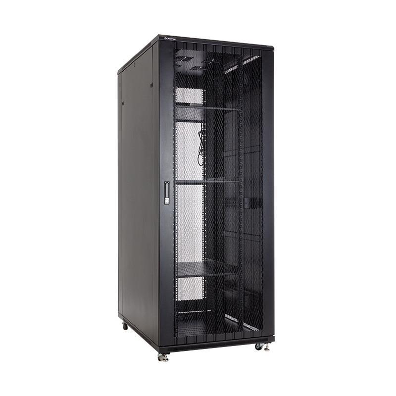 Linkbasic stojící skříně 19'' 42U 800x1000mm černá (perforované dveře)
