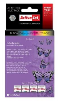 Ink ActiveJet AB-M1100R | black, Cyan, Magenta, Yellow | 12 ml/ 3x7 ml | Brother