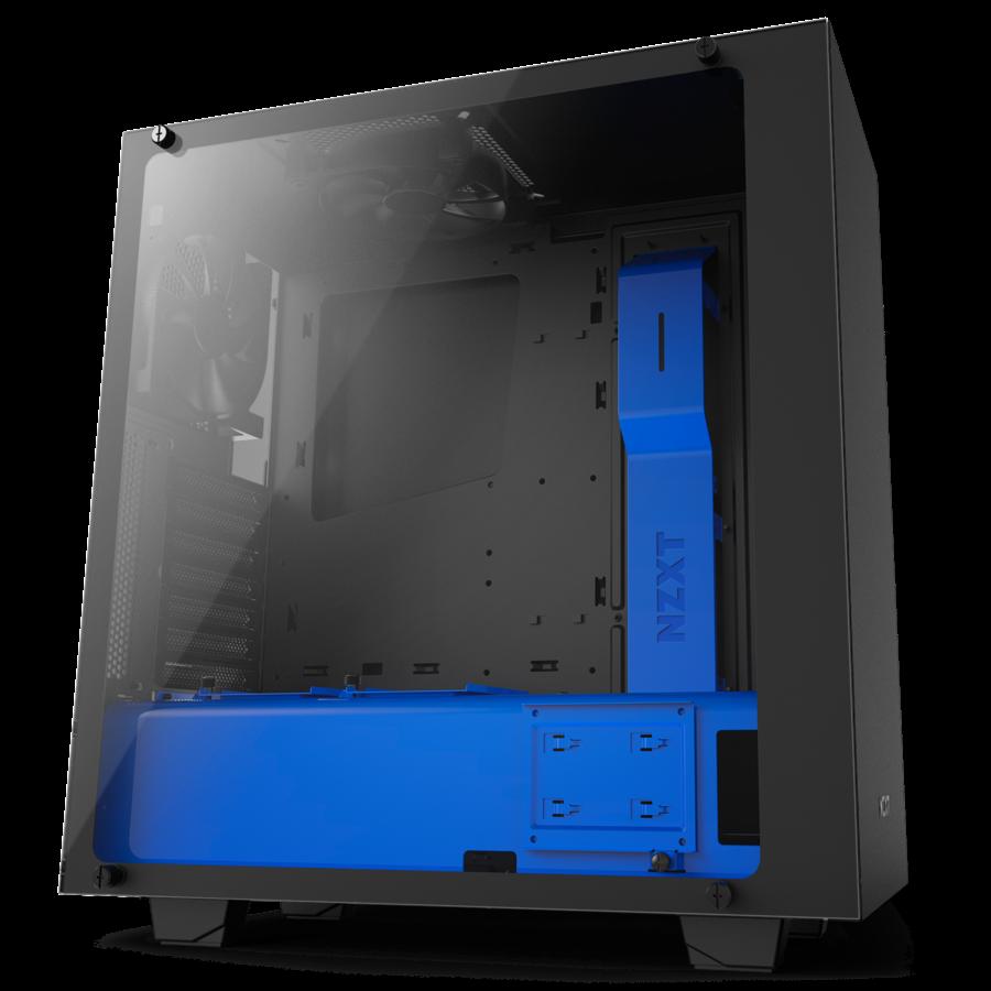 NZXT PC skříň S340 Elite černo-modrá