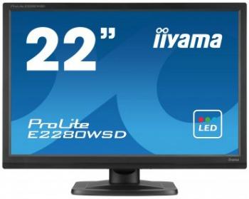 Iiyama LCD E2280WSD-B1 22'' LED, 5ms, DC5mil, VGA/DVI, repro, 1680x1050, č