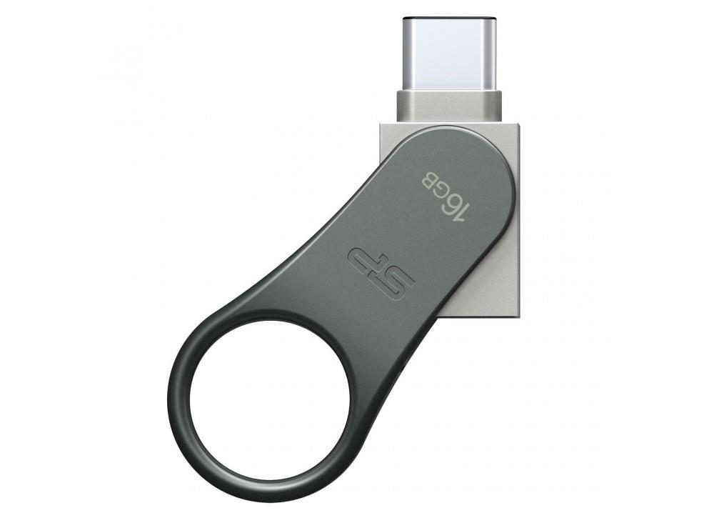 Silicon Power flash disk USB Mobile C80 16GB USB 3.0 Type-C stříbrný