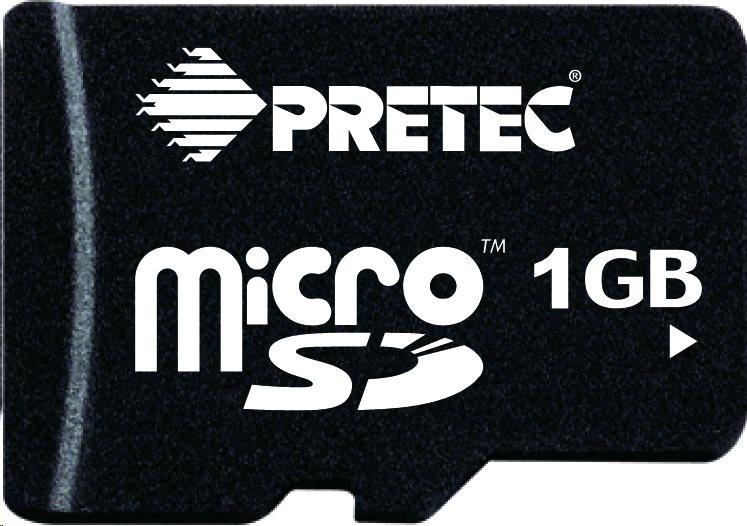 Pretec Industrial microSDHC Card 1GB, -40°C/+85°C