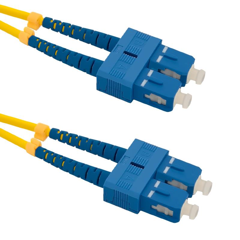 Qoltec Optic Patchcord SC/UPC-SC/UPC | Singlemode | 9/125 | G652D | Duplex | 1m