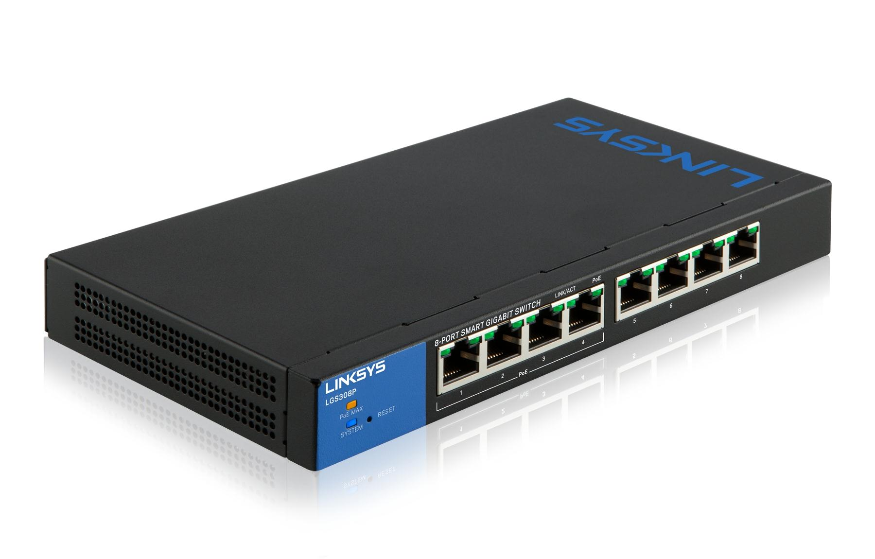Linksys 8-port Desktop Gigabit Smart PoE Switch