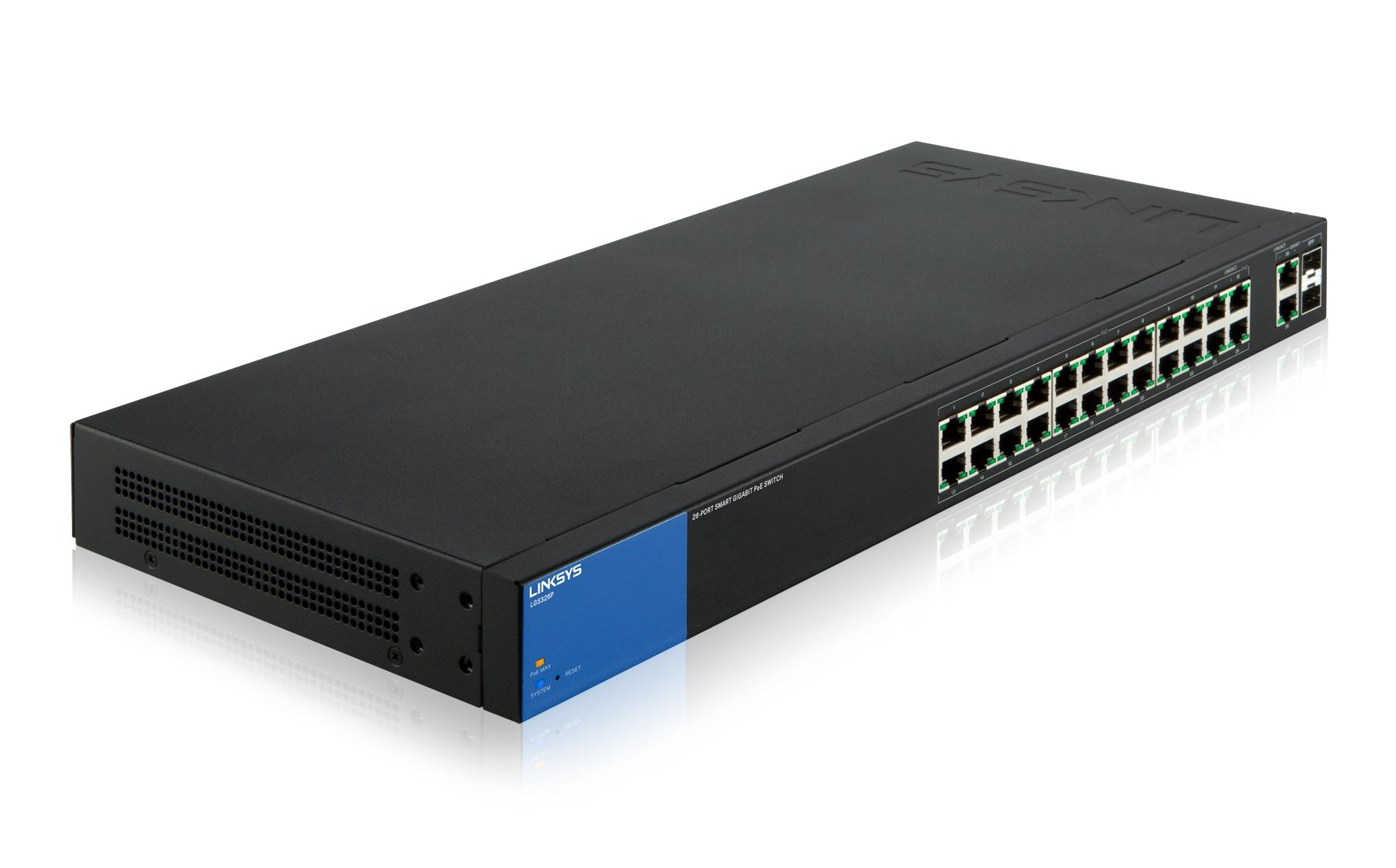 Linksys 24-port Desktop Gigabit Smart PoE Switch