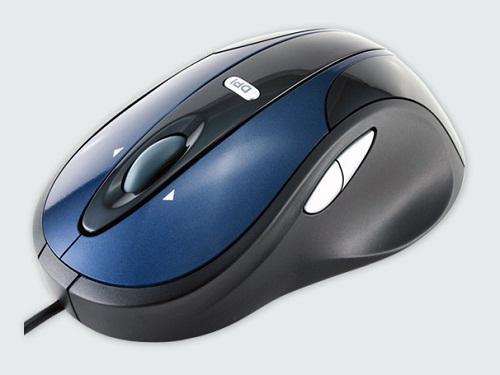 Modecom optická drátová myš MC-910, USB, černo-modrá